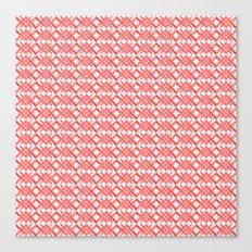 Red Geometric Watercolor Pattern II Canvas Print