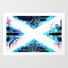 circuit board scotland (Flag) Art Print