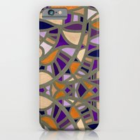 Gaudy Gaudi orange & purple iPhone 6 Slim Case