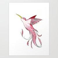 Art Print featuring Hummingbird by Eric Weiand