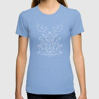 Reindeer Womens Fitted Tee Tri-Blue SMALL