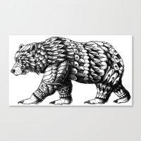 Cali Bear Canvas Print