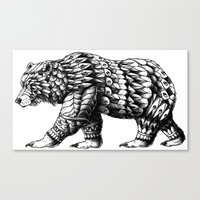Cali Bear Canvas Print