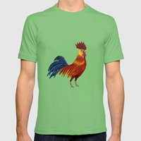 Rooster-3 Mens Fitted Tee Grass SMALL