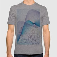 Light Blue Digital Abstract Mens Fitted Tee Athletic Grey SMALL
