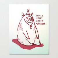 Have A Beary Happy Birth… Canvas Print