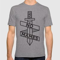 NO MAMES Mens Fitted Tee Athletic Grey SMALL