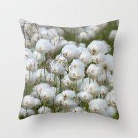 Cotton grass Throw Pillow