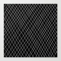 Fishnet Night Canvas Print