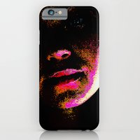 iPhone & iPod Case featuring magenta glitch by Max Rubenacker