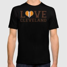 LUV Cleveland SMALL Mens Fitted Tee Black