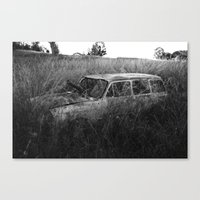 Nature Reclaiming A Vw S… Canvas Print