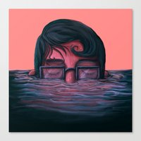 Underwater Breath Canvas Print