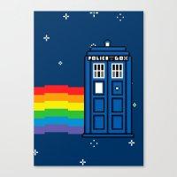 TARDIS / Nyan / 8-Bit Po… Canvas Print