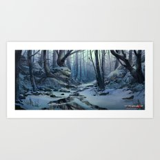 Snowy Forest  Art Print