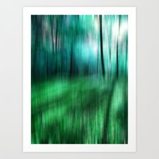early morning in the deep forest Art Print