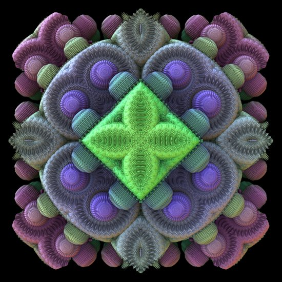 3D Fractal Abstract Thingy Art Print
