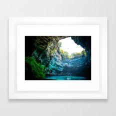 Sea Cave in Greece Framed Art Print