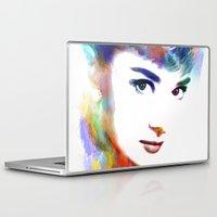 audrey hepburn Laptop & iPad Skins featuring Audrey Hepburn by Michael Akers