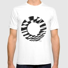 Ring Map 5 White SMALL Mens Fitted Tee