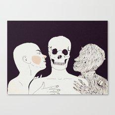 """"""" Mientras te acaricio, te veo envejecer . Amo a las dos. A tí y a tu muerte""""   Canvas Print"""