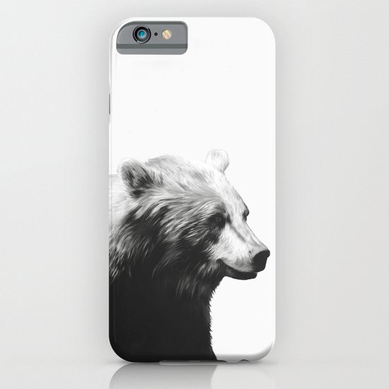 Bear // Calm (Black + White) iPhone & iPod Case