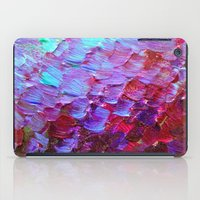 MERMAID SCALES - Colorful Ombre Abstract Acrylic Impasto Painting Violet Purple Plum Ocean Waves Art iPad Case