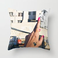 Old Lady Jane Throw Pillow