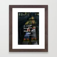 A Million Things Framed Art Print