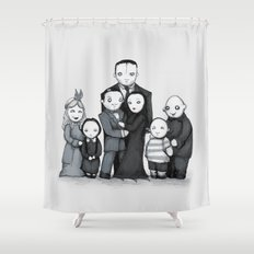 Spooky Plushie Family Shower Curtain