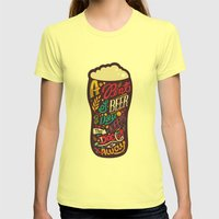 A Pint Of Beer A Day. Ke… Womens Fitted Tee Lemon SMALL