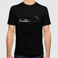 DeLorean DMC-12 Mens Fitted Tee Black SMALL