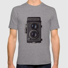 yashica Mens Fitted Tee Athletic Grey SMALL