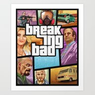 Breaking Bad: GTA  Art Print