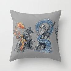 earth - fire - water - (bad) air Throw Pillow