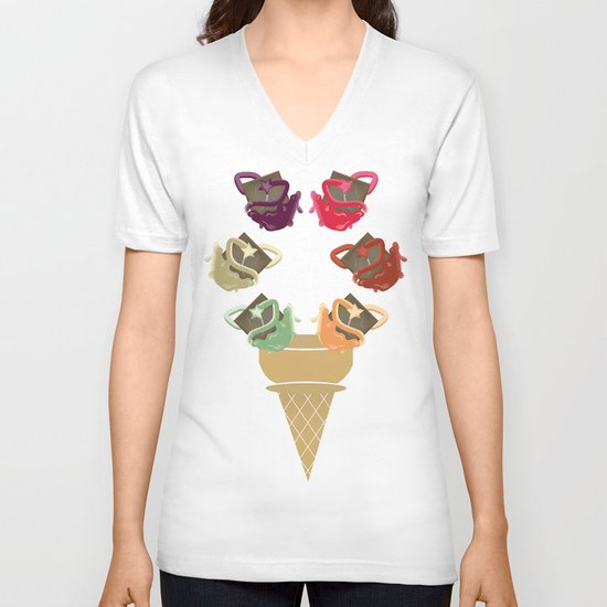 Chocolate Rippleboat Sundae  V-neck T-shirt