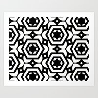 Vogelaar Black & White Pattern Art Print