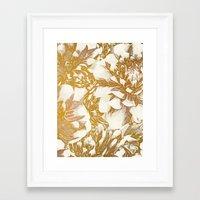 Proud Dahlias Framed Art Print