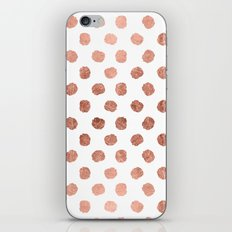 Stylish Rose Gold Polka … iPhone & iPod Skin