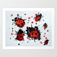 Splattered Bugs Art Print