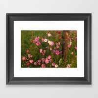 Pinks & Tree  Framed Art Print