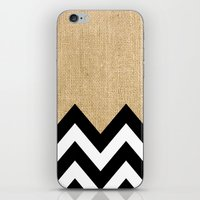 BURLAP BLOCK CHEVRON iPhone & iPod Skin