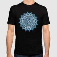 Zen Mandala (Serenity) Mens Fitted Tee Black SMALL