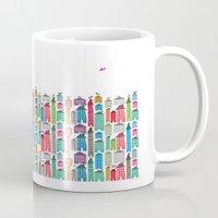 Houses and Birds Mug