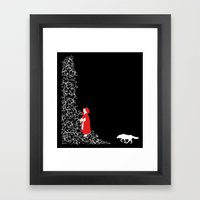 Little Red - Dark Framed Art Print