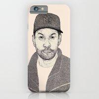iPhone & iPod Case featuring Denzel Washington Portrait by Shane Noonan