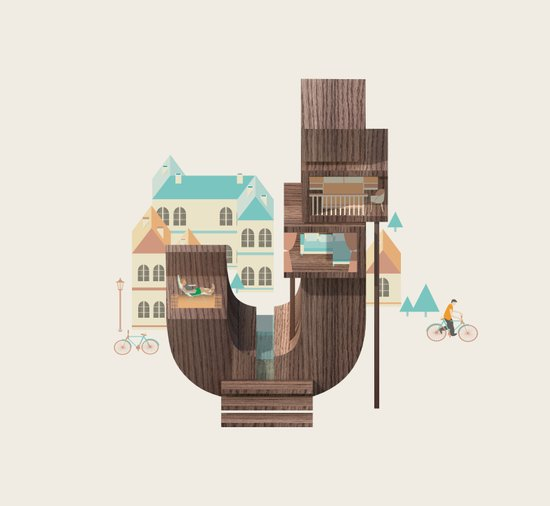 Resort Type - Letter J Art Print