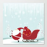 Happy Santa Canvas Print