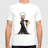Vampire Girl Mens Fitted Tee White SMALL