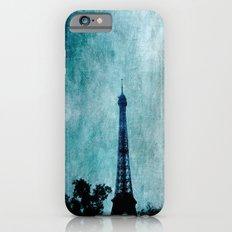 Paris Art Textured Blue iPhone 6 Slim Case